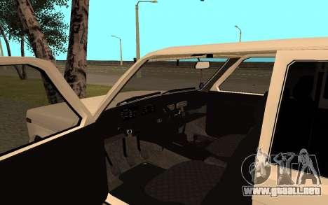 El Niva VAZ 21213 para GTA San Andreas vista hacia atrás