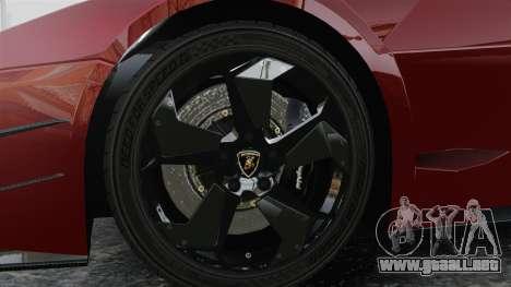 Lamborghini Reventon Body Kit Final para GTA 4 vista hacia atrás