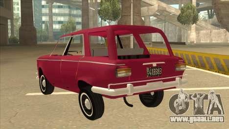 Fiat 1500 Familiar para GTA San Andreas vista hacia atrás