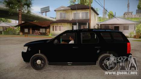 Chevrolet Tahoe LTZ 2013 Unmarked Police para GTA San Andreas left