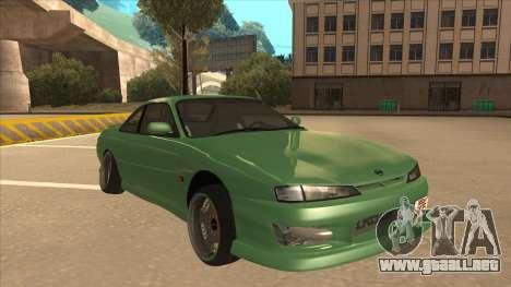 Nissan Silvia S14 Kouki Hellaflush V2 para GTA San Andreas left