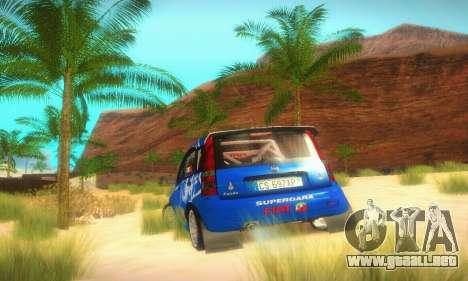 Fiat Panda Rally para GTA San Andreas vista hacia atrás