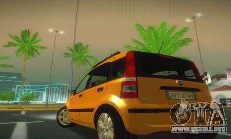 Fiat Panda Taxi para GTA San Andreas vista posterior izquierda