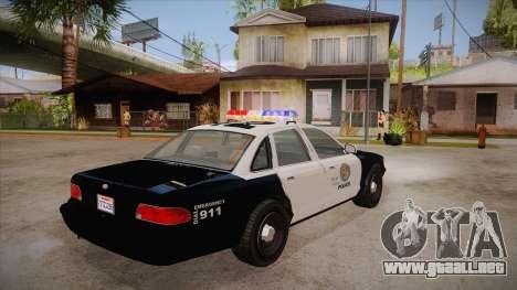 Vapid GTA V Police Car para la visión correcta GTA San Andreas