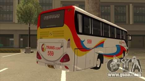 Kinglong XMQ6126Y - GL Trans 559 para la visión correcta GTA San Andreas