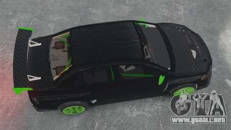 Mitsubishi Lancer Evolution VII Freestyle para GTA 4 visión correcta