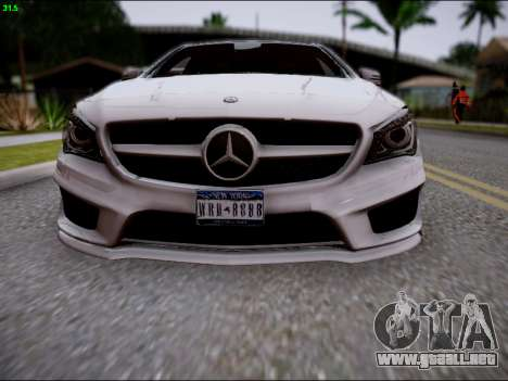 Mercedes-Benz CLA 250 para la vista superior GTA San Andreas