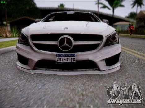 Mercedes-Benz CLA 250 para la vista superior GTA San Andreas