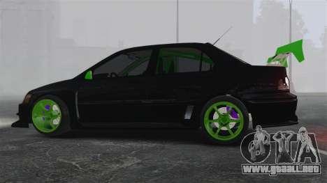 Mitsubishi Lancer Evolution VII Freestyle para GTA 4 left