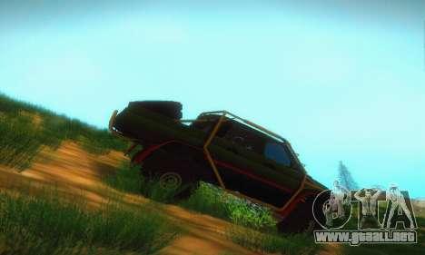 UAZ Patriot camioneta para GTA San Andreas vista posterior izquierda