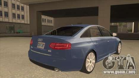 2010 Audi A6 4.2 Quattro para la visión correcta GTA San Andreas