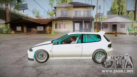 Honda Civic (EG6) Drag Style para GTA San Andreas left