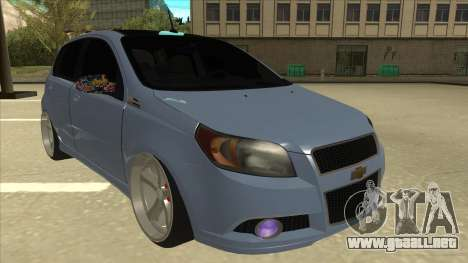 Chevrolet Aveo LT para GTA San Andreas left
