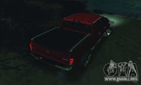 Dodge Ram 2500 HD para vista inferior GTA San Andreas