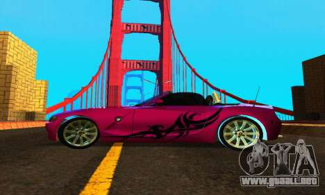 BMW Z4 2005 para GTA San Andreas left