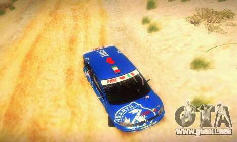 Fiat Panda Rally para vista lateral GTA San Andreas