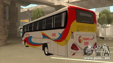 Kinglong XMQ6126Y - GL Trans 559 para GTA San Andreas vista hacia atrás