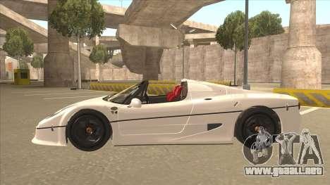 Ferrari F50 GT TT Black Revel para visión interna GTA San Andreas