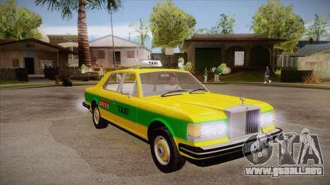 Rolls-Royce Silver Spirit 1990 Taxi para GTA San Andreas vista hacia atrás