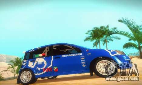 Fiat Panda Rally para GTA San Andreas vista posterior izquierda