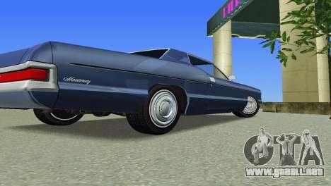 Mercury Monterey 1972 para GTA Vice City vista posterior