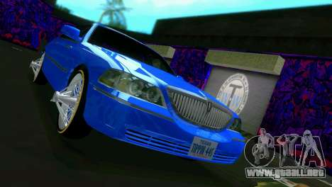 Lincoln Town Car Tuning para GTA Vice City vista lateral izquierdo