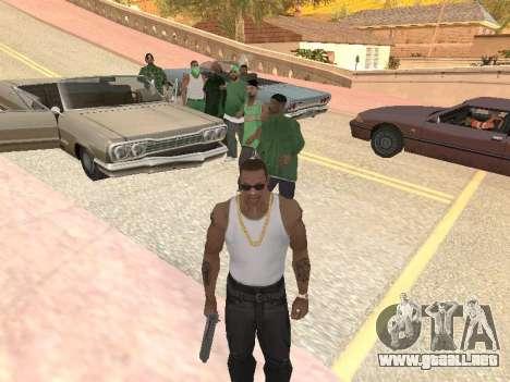Tres hombres en una banda de Groove street para GTA San Andreas tercera pantalla