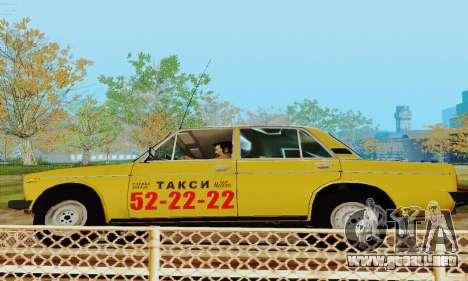 Taxi 2106 VAZ para visión interna GTA San Andreas