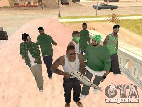 Tres hombres en una banda de Groove street para GTA San Andreas