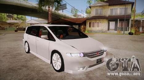 Honda Odyssey v1.5 para GTA San Andreas vista hacia atrás