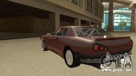 Elegy Drift Missile para GTA San Andreas vista hacia atrás