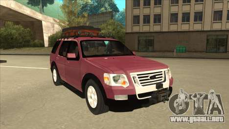 Ford Explorer 2011 para GTA San Andreas left