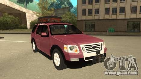 Ford Explorer 2011 para GTA San Andreas left