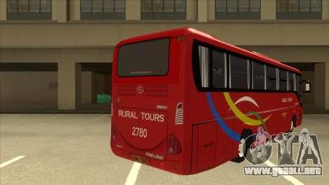 KINGLONG XMQ6126Y - Rural Tours 2780 para la visión correcta GTA San Andreas