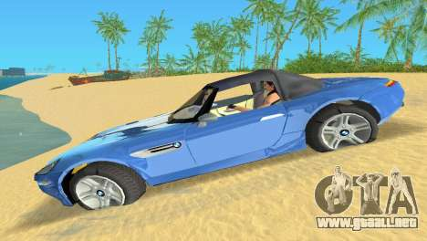 BMW Z8 para GTA Vice City vista posterior