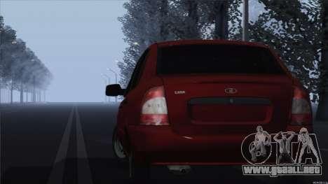Kalina 1118 VAZ para GTA San Andreas vista posterior izquierda