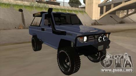 Toyota Machito Pick Up 2009 para GTA San Andreas left