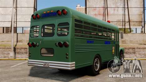 El autobús de la prisión, ciudad de Nueva York para GTA 4 Vista posterior izquierda