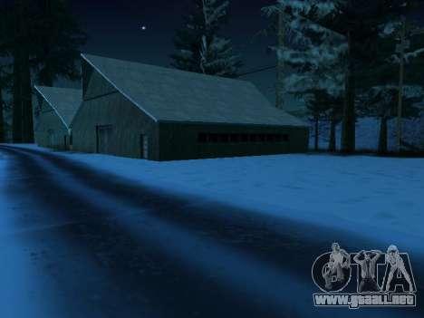 Invierno v1 para GTA San Andreas sucesivamente de pantalla