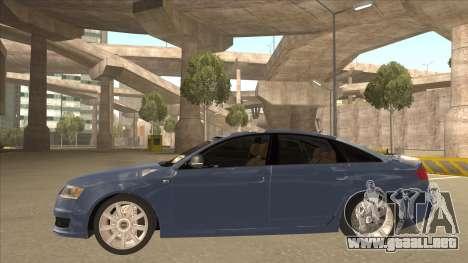 2010 Audi A6 4.2 Quattro para GTA San Andreas vista posterior izquierda