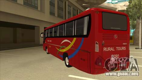 KINGLONG XMQ6126Y - Rural Tours 2780 para GTA San Andreas vista hacia atrás