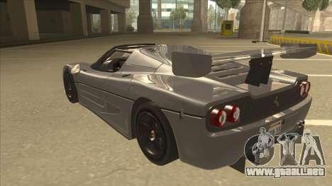 Ferrari F50 GT TT Black Revel para GTA San Andreas vista hacia atrás