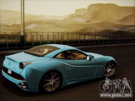Ferrari California 2009 para vista lateral GTA San Andreas