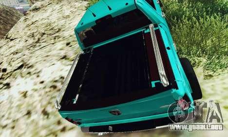 Dodge Ram 2500 HD para GTA San Andreas vista posterior izquierda