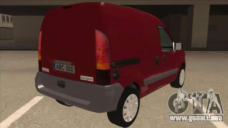 RENAULT KANGOO v1 para la visión correcta GTA San Andreas