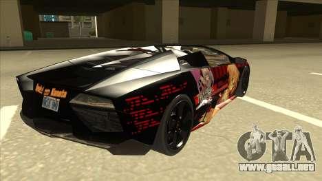 Lamborghini RR Kyoukai No Kanata Itasha para la visión correcta GTA San Andreas