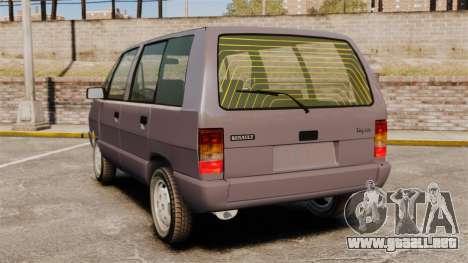 Renault Espace I 2000 TSE para GTA 4 Vista posterior izquierda
