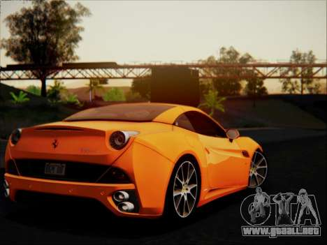 Ferrari California 2009 para la vista superior GTA San Andreas