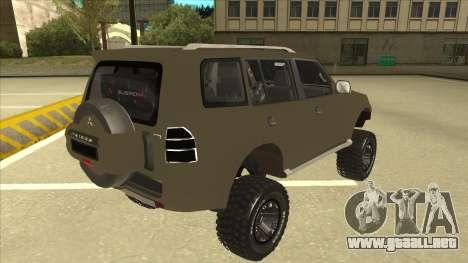 Mitsubishi Montero EDVARD [ERICK] para la visión correcta GTA San Andreas