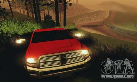 Dodge Ram 2500 HD para la vista superior GTA San Andreas